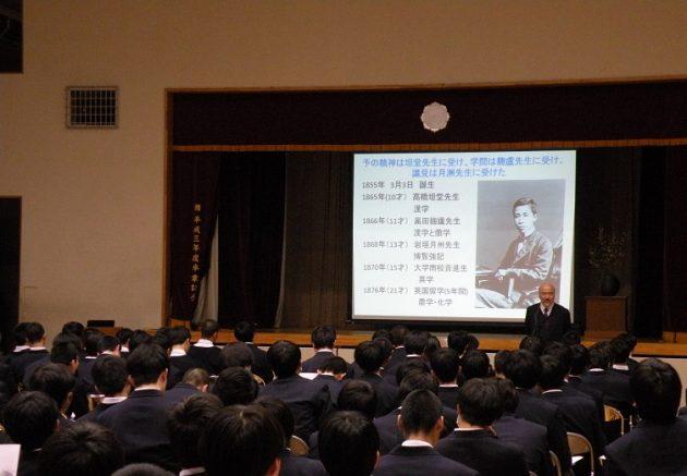 2018年度景仰会が行われました。 | 日本学園中学校・高等学校